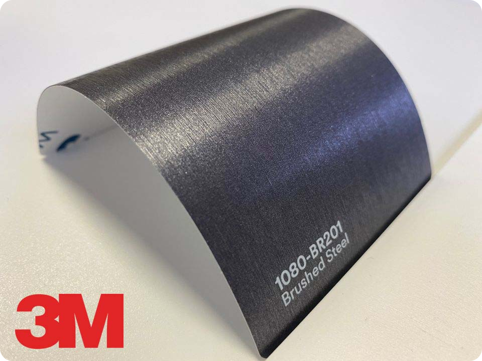 3M Wrap Film Series 1080-BR201, Brushed Steel