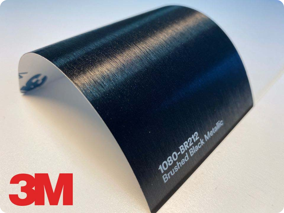 3M Wrap Film Series 1080-BR212, Brushed Black Metallic