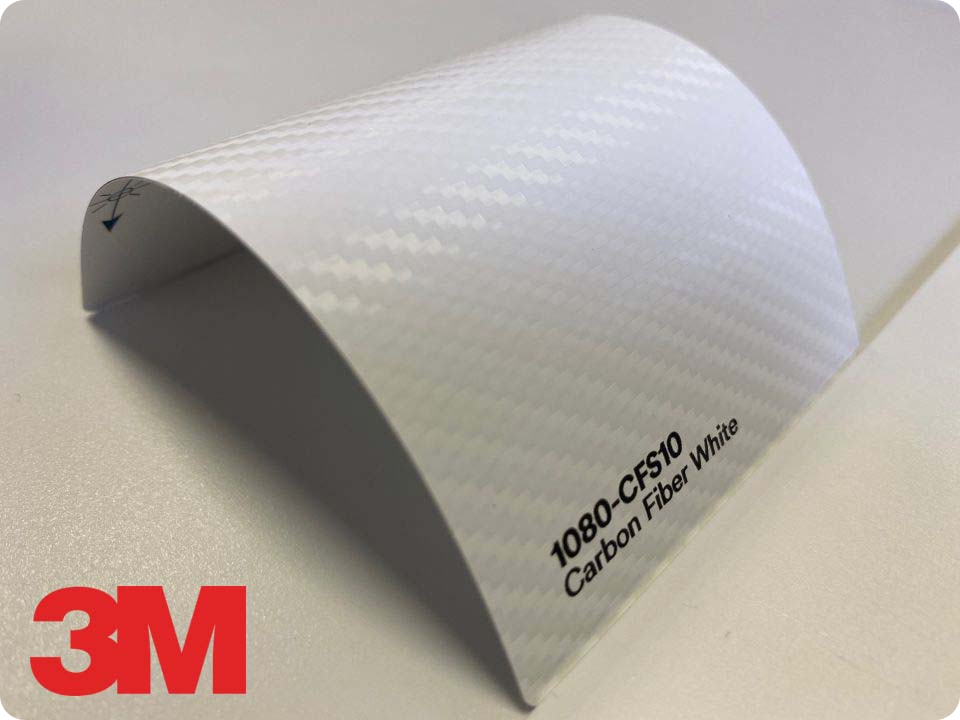 3M Wrap Film Series 1080-CFS10, Carbon Fiber White