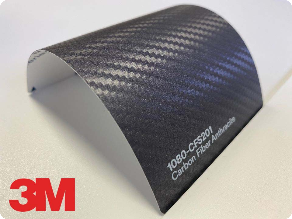 3M Wrap Film Series 1080-CFS201, Carbon Fiber Anthracite