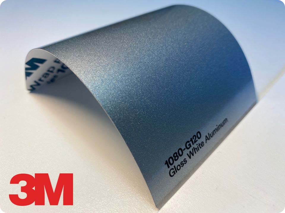 3M Wrap Film Series 1080-G120, Gloss White Aluminum