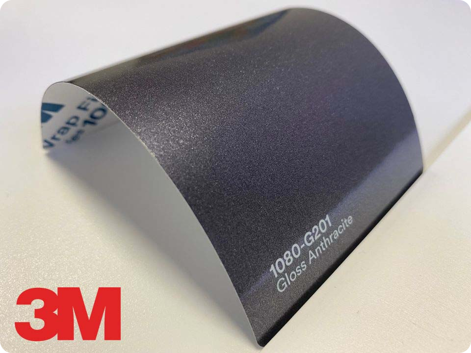 3M Wrap Film Series 1080-G201, Gloss Anthracite