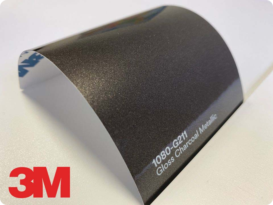 3M Wrap Film Series 1080-G211, Gloss Charcoal Metallic