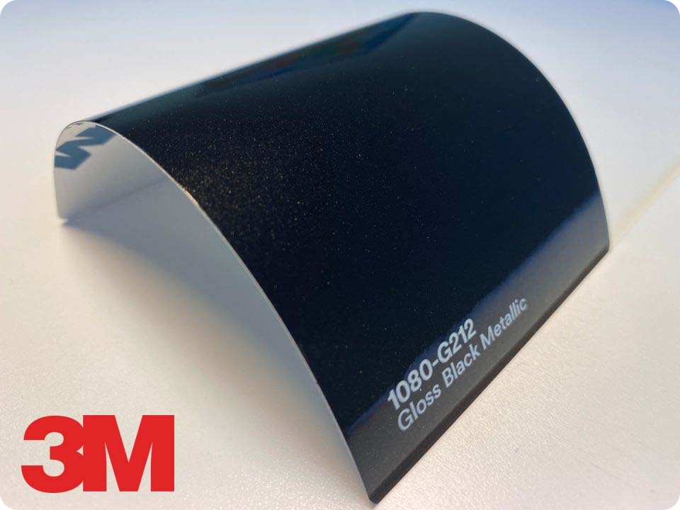 3M Wrap Film Series 1080-G212, Gloss Black Metallic