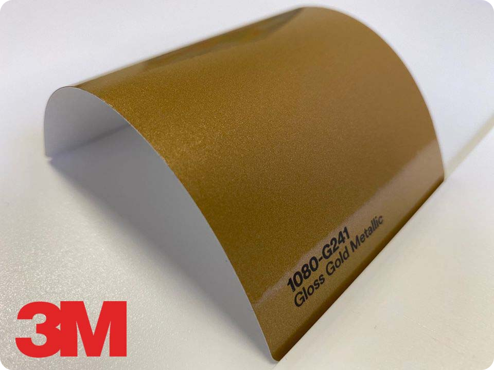 3M Wrap Film Series 1080-G241, Gloss Gold Metallic
