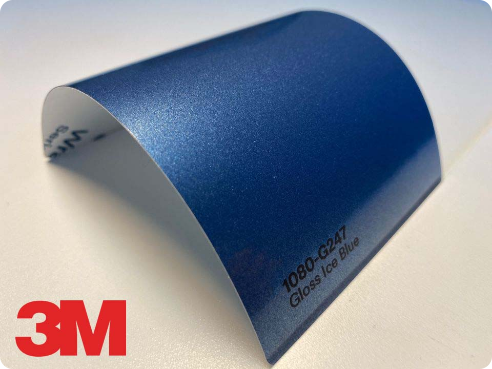 3M Wrap Film Series 1080-G247, Gloss Ice Blue