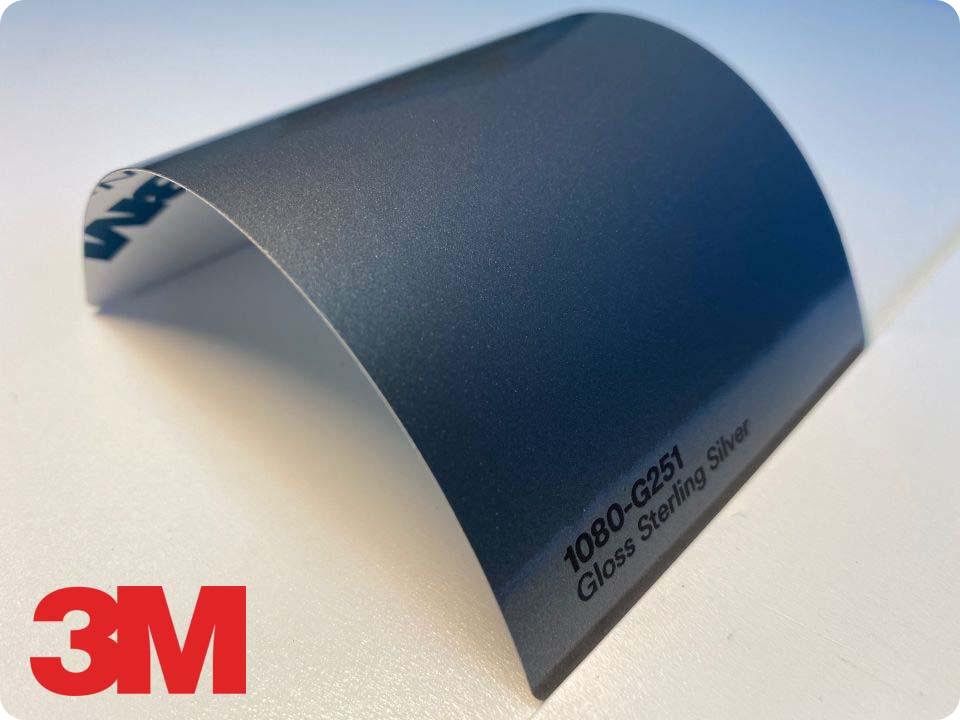 3M Wrap Film Series 1080-G251, Gloss Sterling Silver