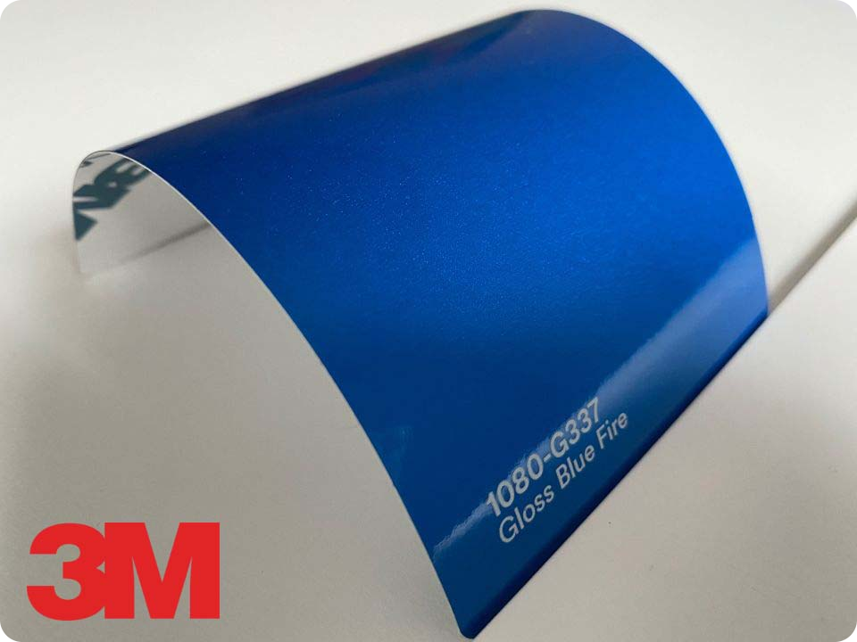 3M Wrap Film Series 1080-G337, Gloss Blue Fire