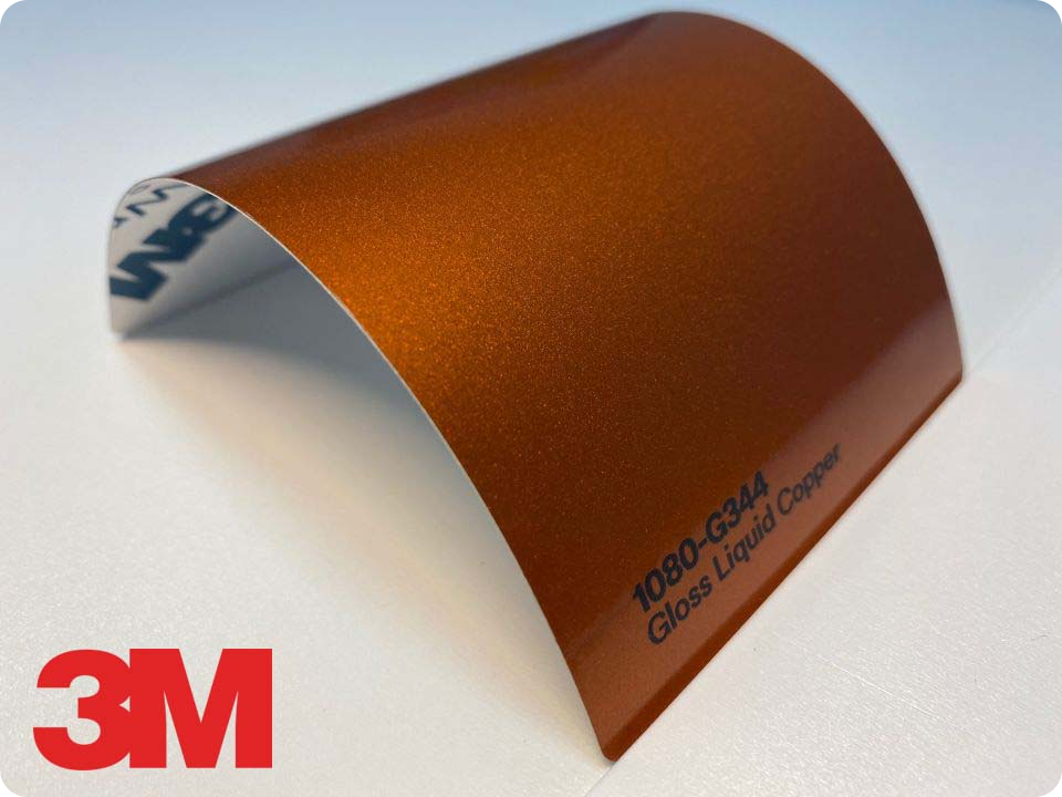 3M Wrap Film Series 1080-G344, Gloss Liquid Copper
