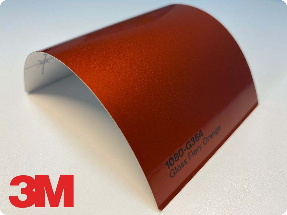 3M Wrap Film Series 1080-G364, Gloss Fiery Orange