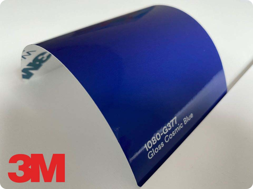 3M Wrap Film Series 1080-G377, Gloss Cosmic Blue