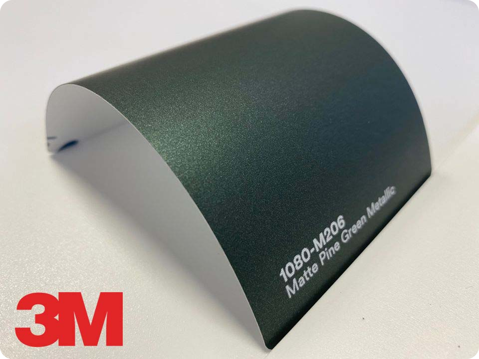 3M Wrap Film Series 1080-M206, Matte Pine Green Metallic