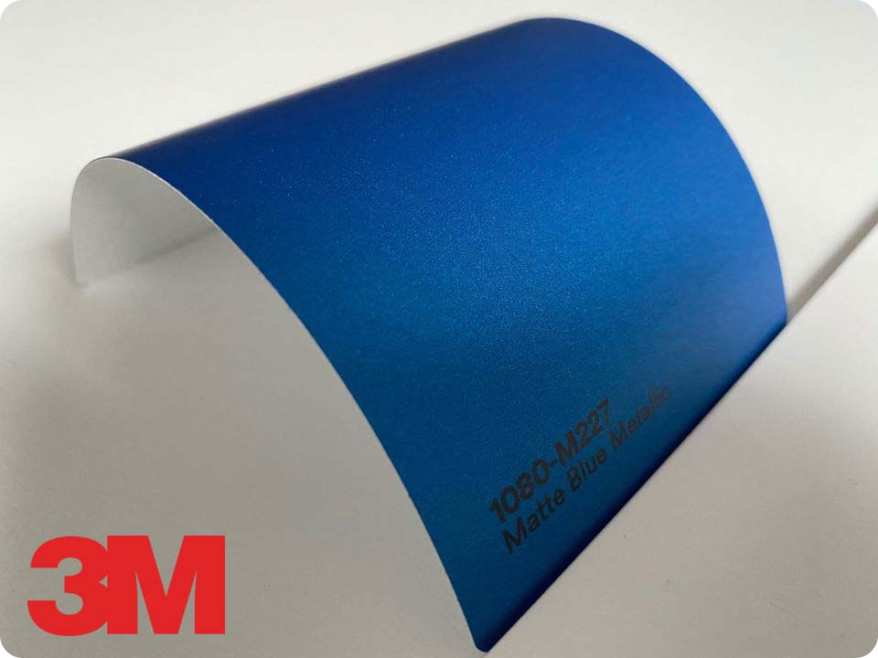 3M Wrap Film Series 1080-M227, Matte Blue Metallic