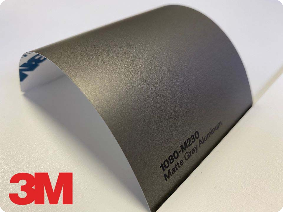 3M Wrap Film Series 1080-M230, Matte Gray Aluminum