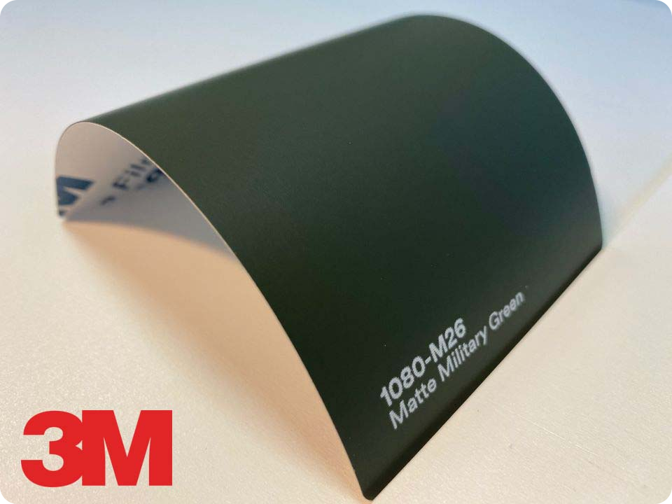 3M Wrap Film Series 1080-M26, Matte Military Green