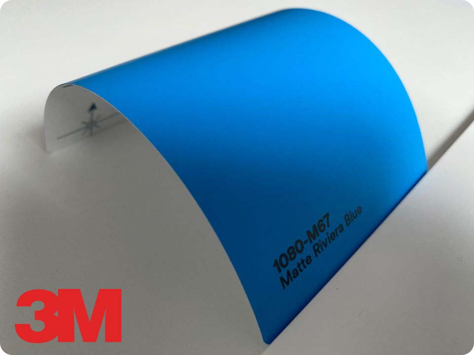 3M Wrap Film Series 1080-M67, Matte Riviera Blue