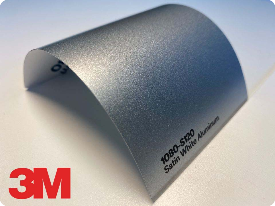 3M Wrap Film Series 1080-S120, Satin White Aluminum