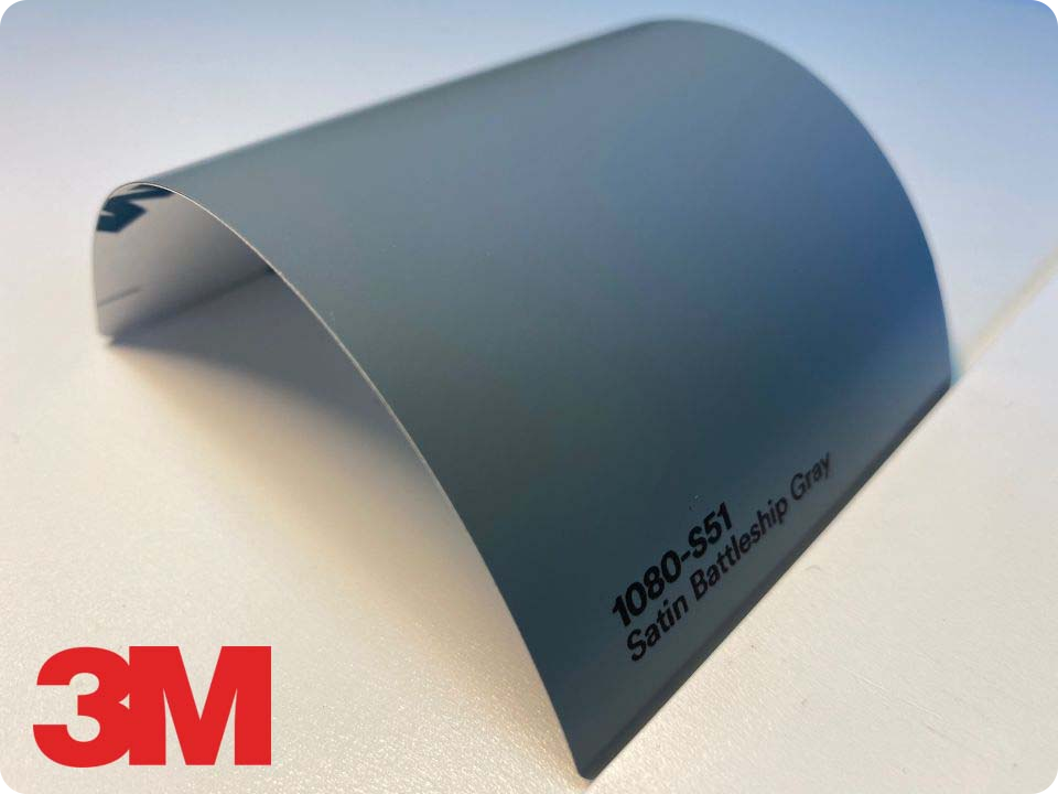 3M Wrap Film Series 1080-S51, Satin Battleship Gray