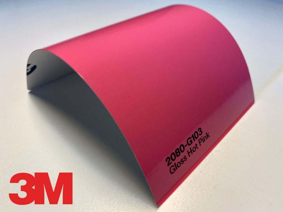 3M Wrap Film Series 2080-G103, Gloss Hot Pink