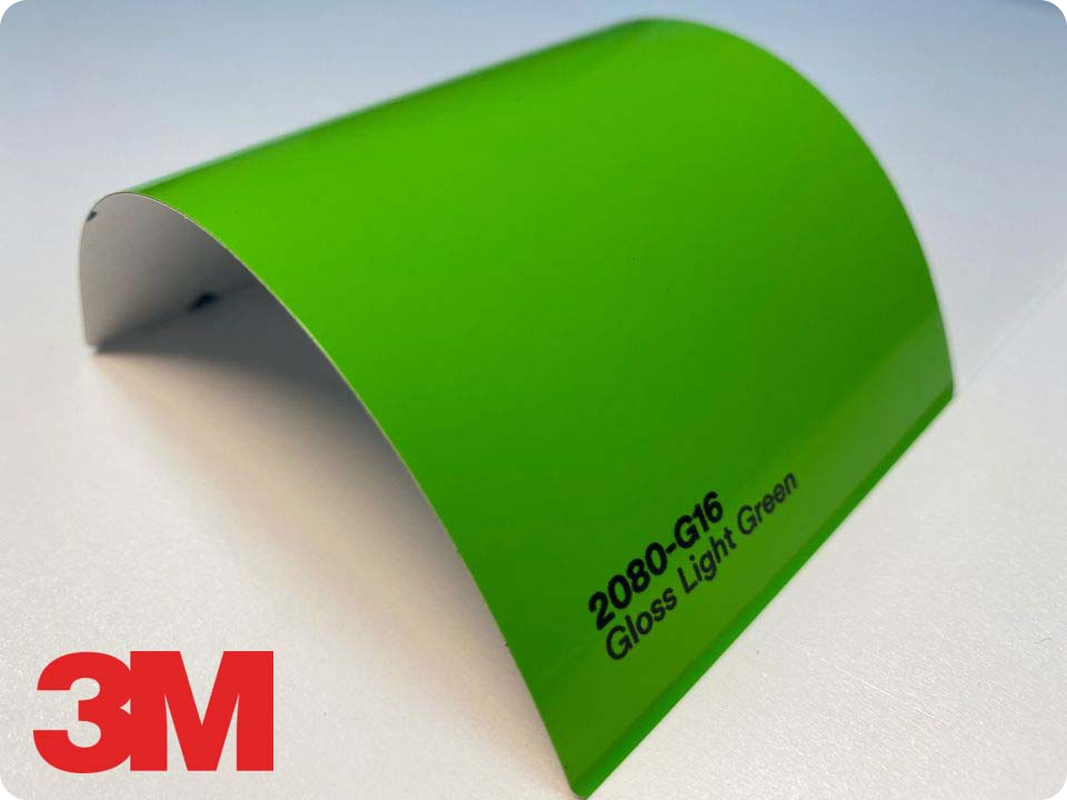 3M Wrap Film Series 2080-G16, Gloss Light Green