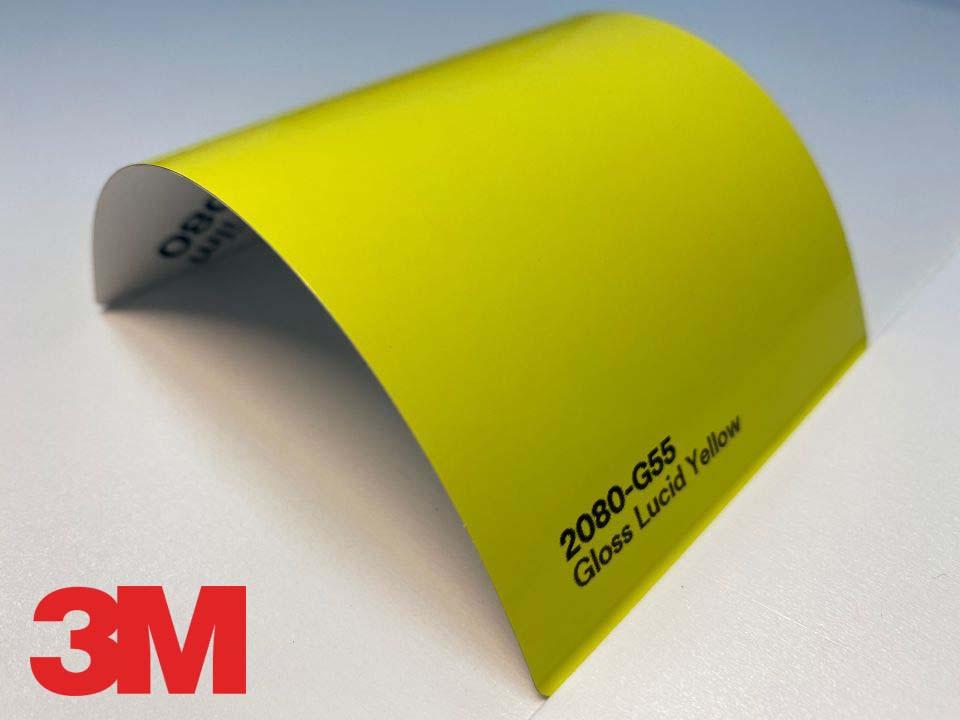3M Wrap Film Series 2080-G55, Gloss Lucid Yellow