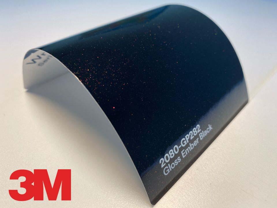 3M Wrap Film Series 2080-GP282, Gloss Ember Black