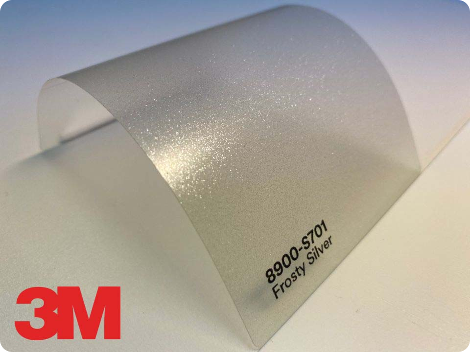 3M Wrap Overlaminate 8900-S701, Satin Frosty Silver
